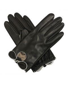 Vesper - Silk Lined Leather Glove with Bow
