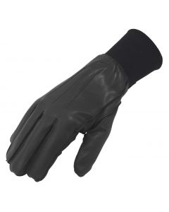 Men's Uniform Lined Leather Gloves with Cuff