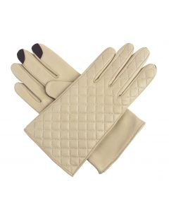 Gloria - Silk Lined Quilted Leather Gloves