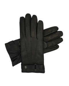 Henstridge - Lined Leather Gloves with Strap