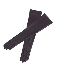 Kelly - Silk Lined Long Leather Gloves