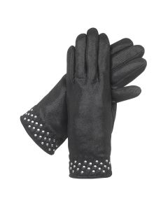 Nico - Cashmere Lined Sparkle Leather Gloves