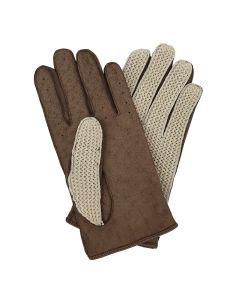 Oborne - Crochet Back Leather Palm Glove