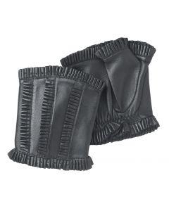 Ruffles - Unlined Leather Fingerless Handwarmer