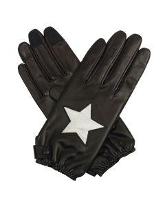 Stella - Silk Lined Star Leather Gloves