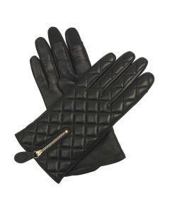 Zuzu - Silk Lined Quilted Leather Gloves