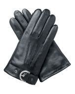 Ada - Lined Leather Gloves with Buckle