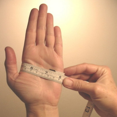 Measuring a hand for Glove Size