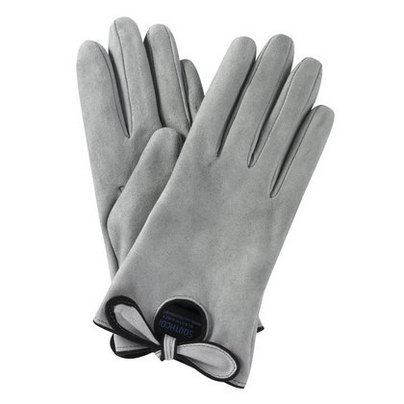 Tess Grey Suede Gloves