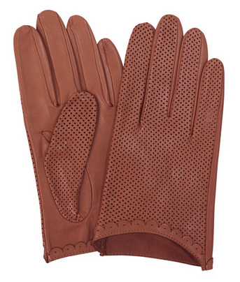 Peggy Hazelnut Driving Gloves